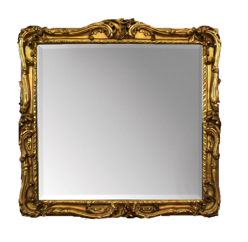 Baroque Gold Mirrors original hand carved Baroque mirror, size 76x74 cm ...